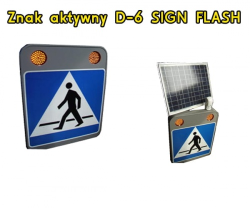 Znak aktywny D-6 SIGN FLASH